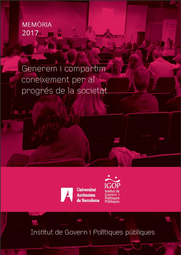 Memòria Activitats IGOP 2017