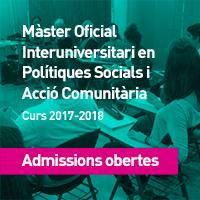 Master Oficial Politiques socials i Acció comunitària
