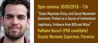 Open seminar Raffaele Bazurli