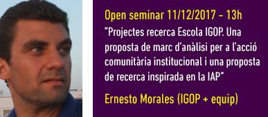 Open Seminar Ernesto Morales