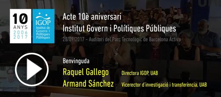 Benvinguda IGOP10