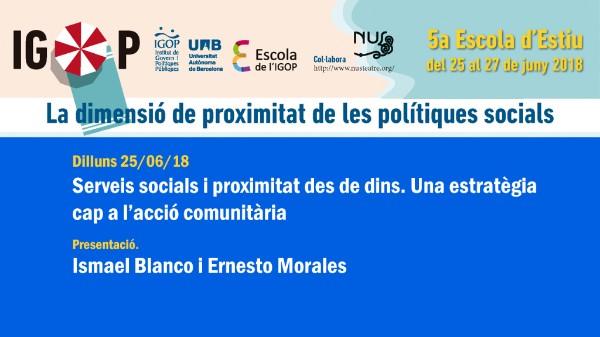Presentació 5a Escola Estiu IGOP. Ismael Blanco i Ernesto Morales
