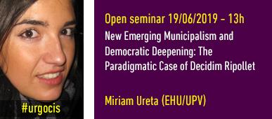 Open Seminar Miriam Ureta