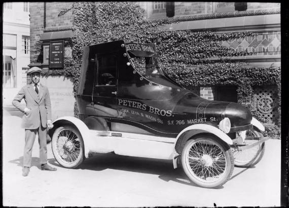 Peter Bros. promotional shoe car (1922)