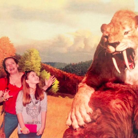 Rusty Blazenhoff and SJ at Page Museum...ARRRRRRGGGGGGGGGHHHHHHHHHHH!