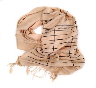 Library Due Date Scarf