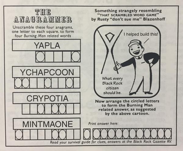 The Anagrammer by Rusty Blazenhoff