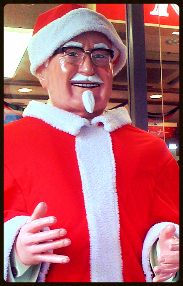 Christmas Colonel Sanders in Japan