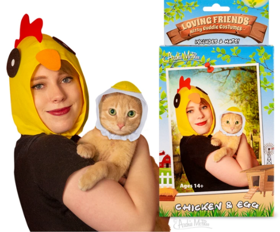 Chicken and Egg Loving Friends Kitty Cuddle Costumes