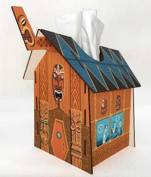 Shag's Tiki Temple Tissue Box