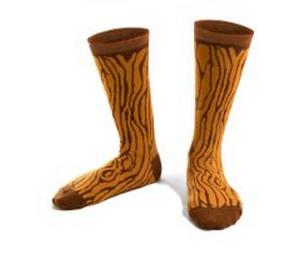 Faux bois socks