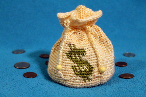 Crocheted Money Bag
