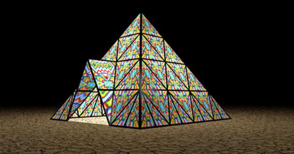 Gummy Bear Pyramid at Burning Man
