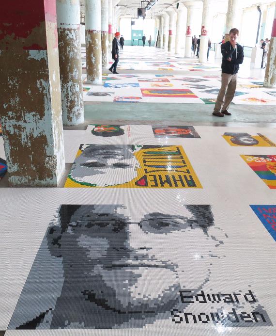 "Ai Weiwei's ""Trace"" at Alcatraz :: Edward Snowden"