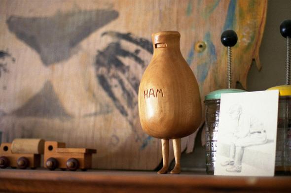 Hand-carved Ham like To Kill a Mockingbird's Scout