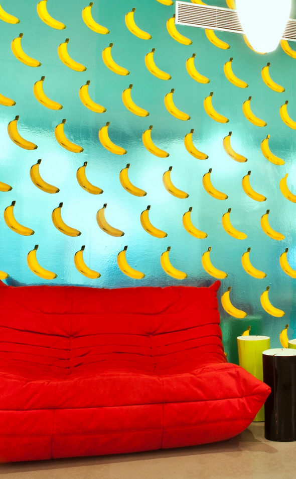 Scratch -n- Sniff Banana wallpaper by Flavor Paper