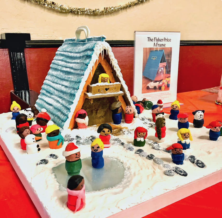 1974 Fisher-Price A-Frame gingerbread house