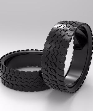 14k black gold tire bracelets