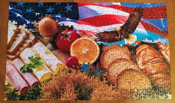 """Land of the Free Breakfast"" puzzle mashup by Rusty Blazenhoff"