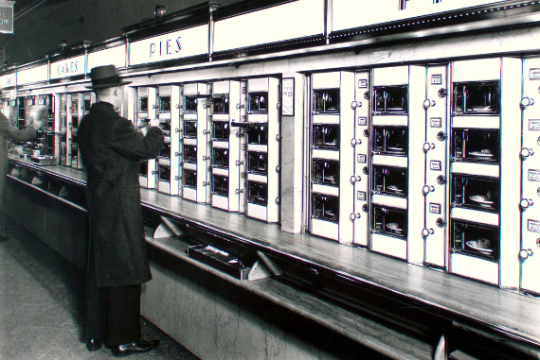 Automat with Pies and Cakes
