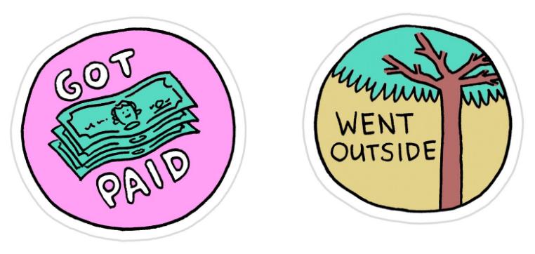 Freelance Achievement Stickers