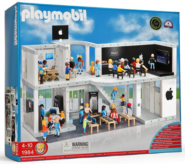 Playmobil Apple Store playset by ThinkGeek