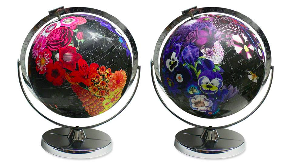 Art globes by ImagineNations // Wendy Gold