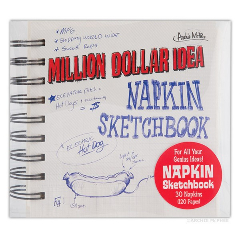 Million Dollar Idea Napkin Sketchbook