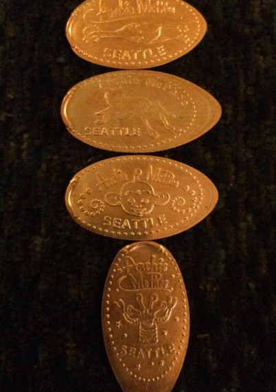 Squished pennies!
