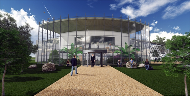 Artist's impression of new Pershore College entrance