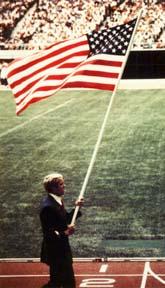 Gary Hall, 1976 USA flagbearer