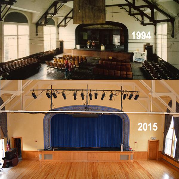 Vergennes Opera House interior comparison