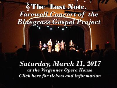 Bluegrass Gospel Project Farewell Concert