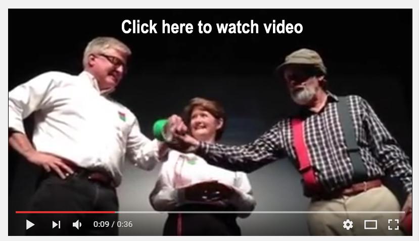 Red Green presents Ducktape to Vergennes dignitaries