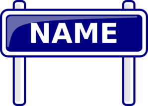 name clipart