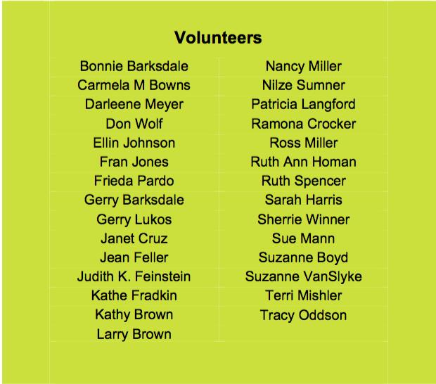 V V Volunteers