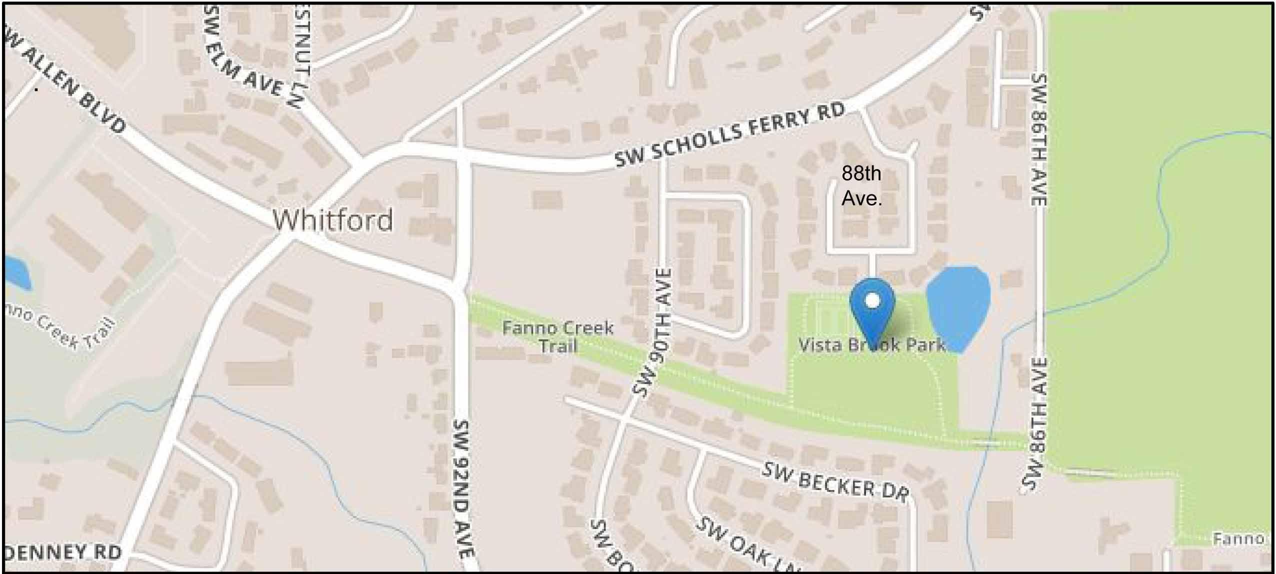 Vista Creek Trail map