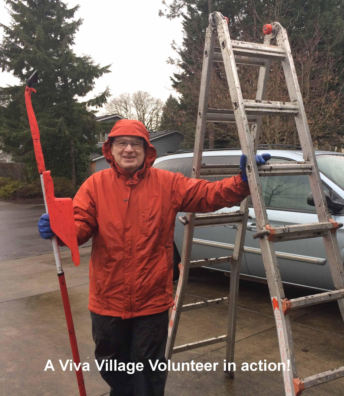 Volunteer providing a service