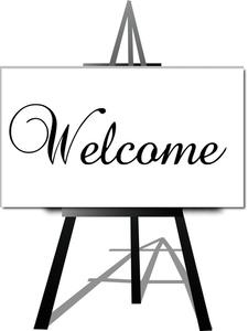 welcome easel