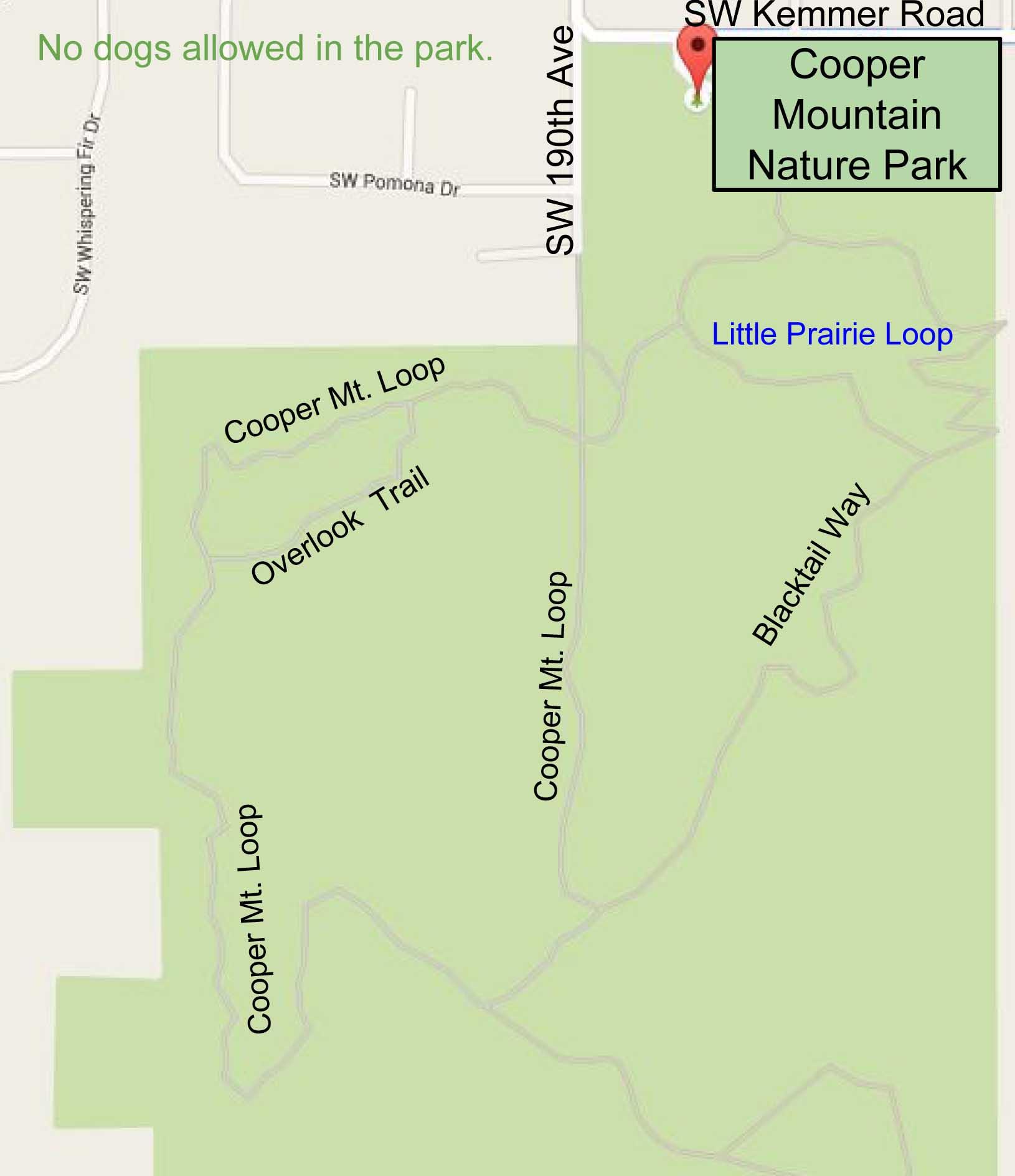 Cooper Mountain Map