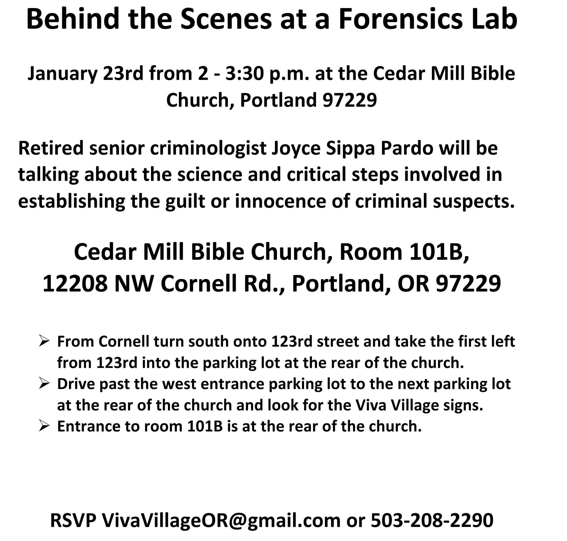 Forensics flyer