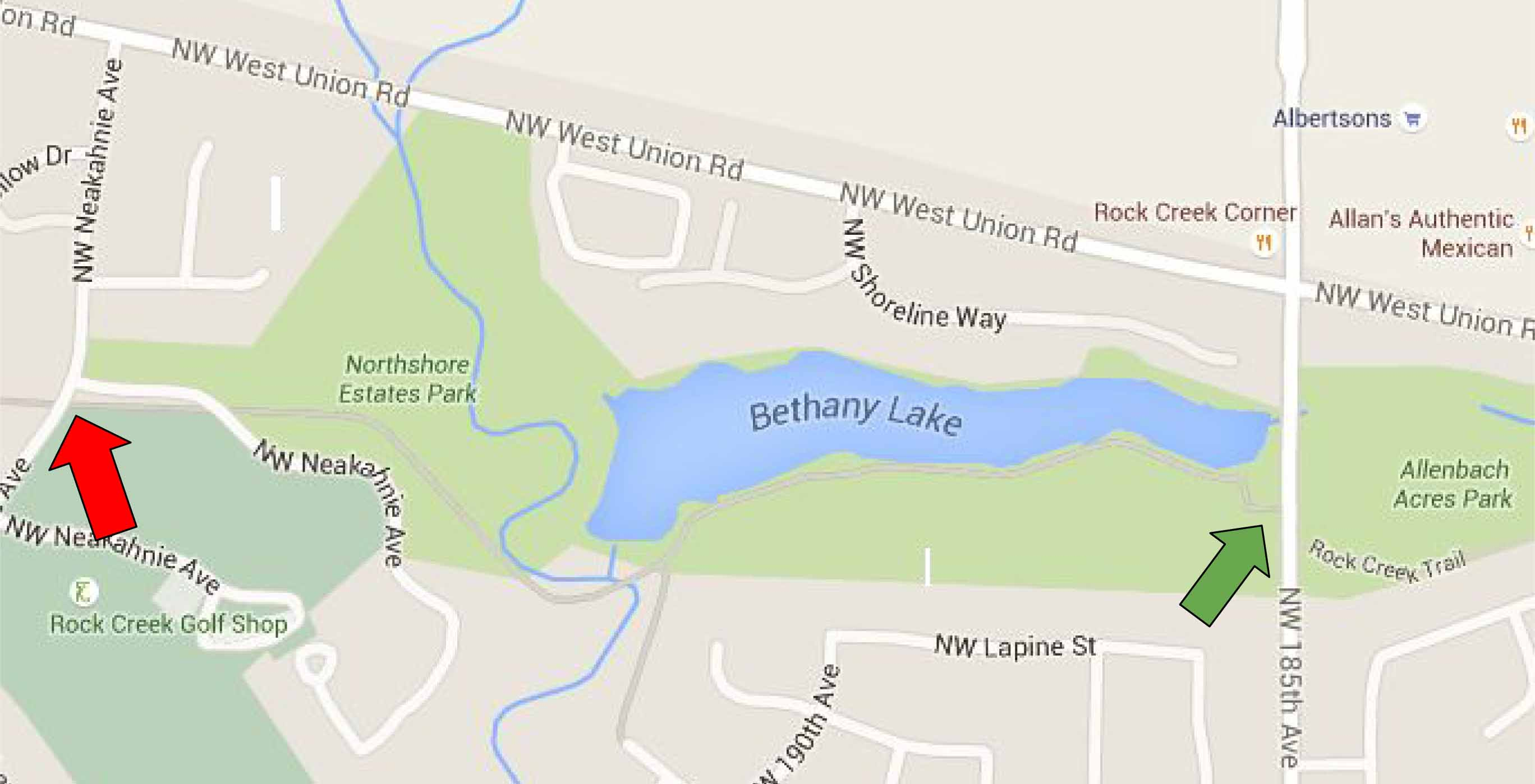 Bethany Lake map