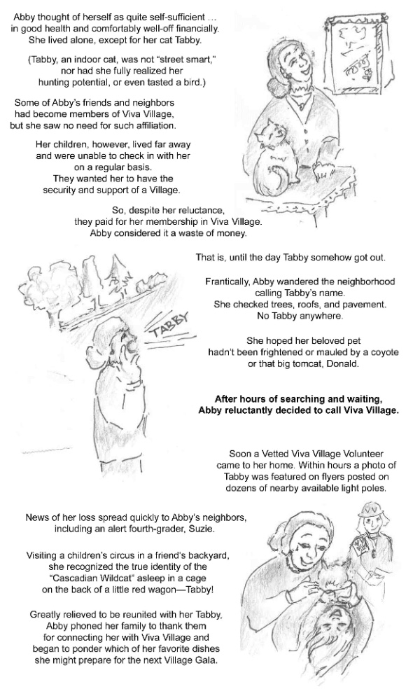 Village illustrated story