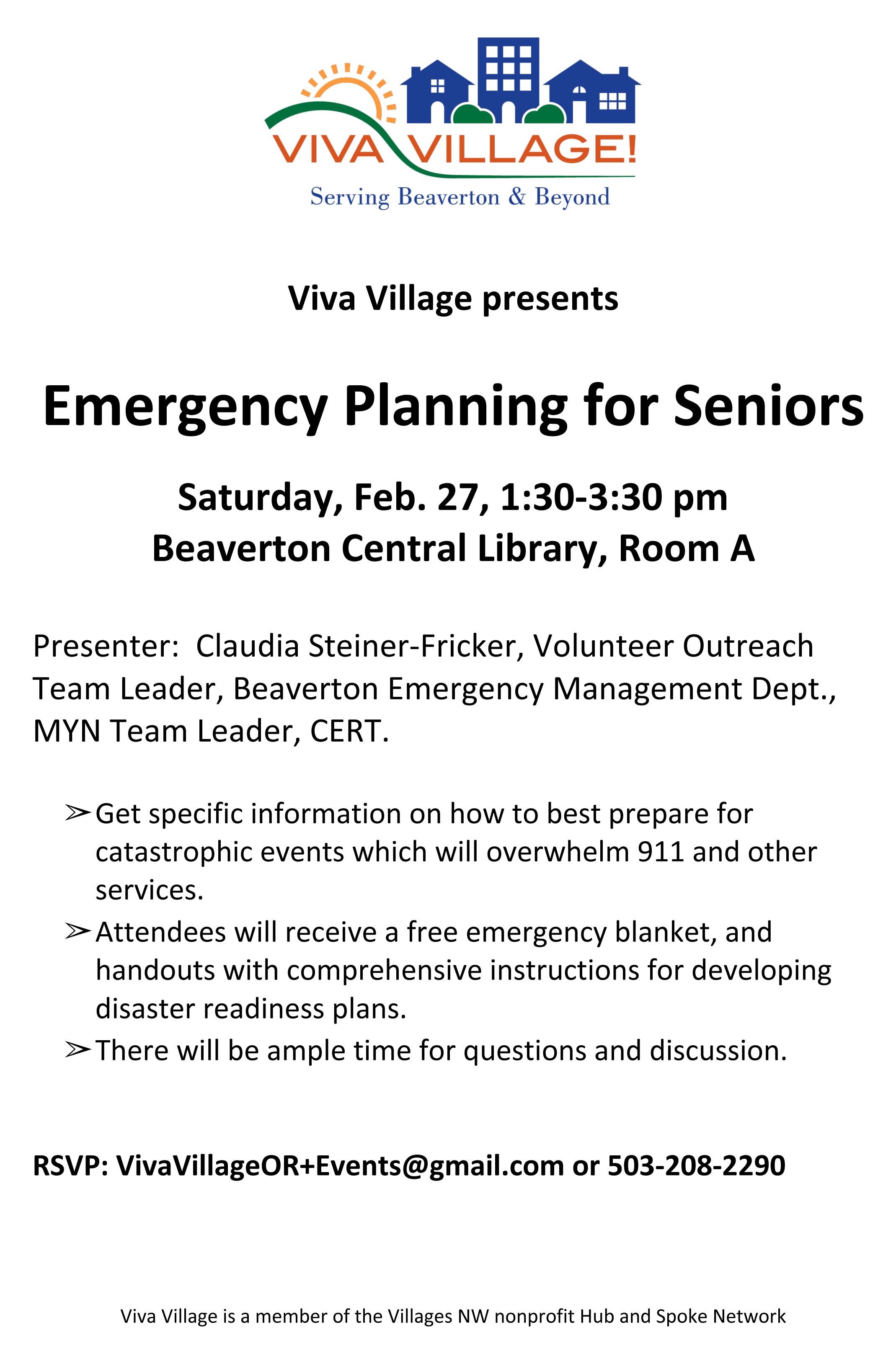 emergency planning flyer