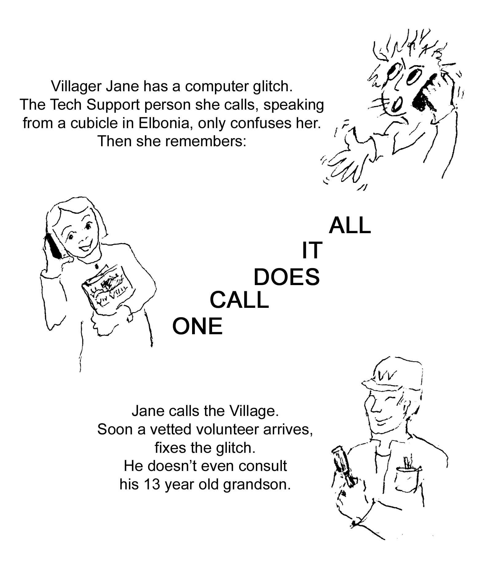 Village Cartoon