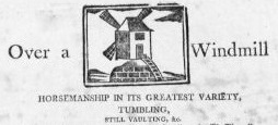 Image of a windmill from a playbill