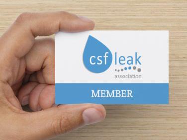CSF Leak Association Membership Card