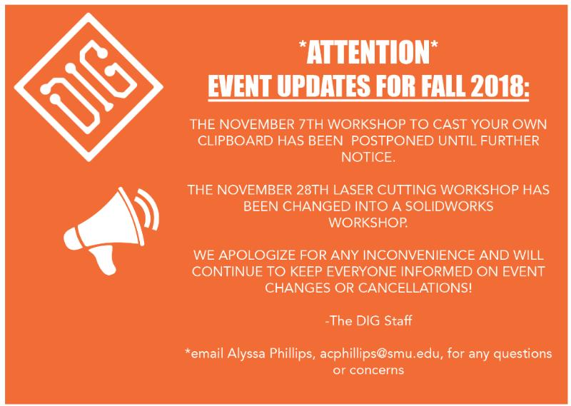 DIG Fall Updates