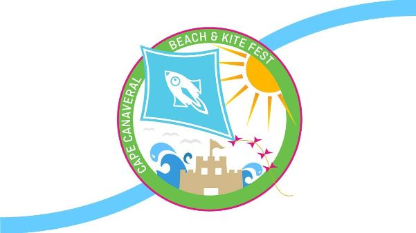 graphic including cape canaveral beach + kite fest