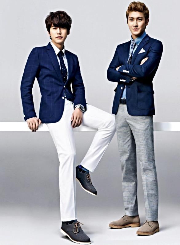 siwon and kyuhyn fashionable kpop band super junior